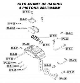 Pièces Détachées pour Kits Avant - 4 Pistons 286 & 304 mm