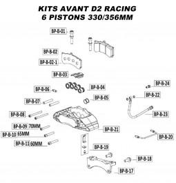 Pièces Détachées pour Kits Avant - 6 Pistons 330 & 356 mm