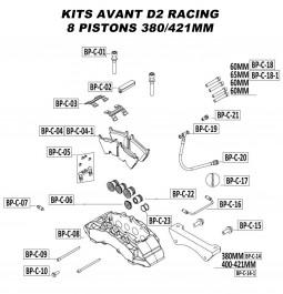 Pièces Détachées pour Kits Avant - 8 Pistons 380 & 421 mm