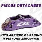 Pièces Détachées pour Kits Arrière - 4 Pistons 286 & 304 mm