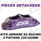 Pièces Détachées pour Kits Arrière - 4 Pistons 330 & 355 mm