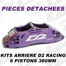 Pièces Détachées pour Kits Arrière - 6 Pistons 380 mm